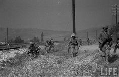 1st Marine Marines moving out, Korea 1951