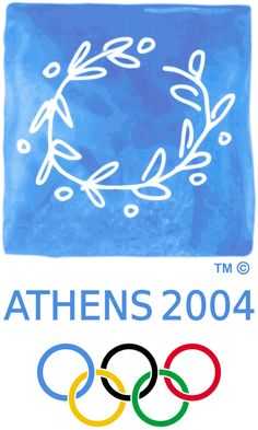 """Logo of the 2004 Olympic Games - Athens, Greece. Official Motto: """"Welcome Home"""" best of FIFA summer Games Fifa, 2004 Olympics, Summer Olympics, Summer Games, Winter Games, Olympic Gymnastics, Olympic Games, Gymnastics Quotes, Gymnastics Leotards"""