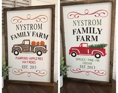 Pumpkin Patch Sign- Christmas Tree Farm Sign- Custom Last Name Sign- Double Sided Sign-Fall Decor- Fall Wood Signs- Christmas Decor-Christma Christmas Tree Farm, Christmas Signs, Christmas Projects, Winter Christmas, Christmas Holidays, Christmas Decorations, Xmas, Christmas Trees For Sale, Merry Christmas