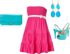 """Pink and Turquoise."