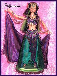 Belly Dancer Roshanah- OOAK Doll One of a Kind | by Fantasy Dolls by Donna Anne