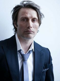 Mads Mikkelsen. The mess look is perfect!