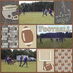 Biggest Fan: Football by Dream Big Designs Biggest Fan Journal Cards by Dream Big Designs Biggest Fan Solids by Dream Big Designs In the Pocket Bundle by Chelle's Creations Kids Scrapbook, Scrapbooking Ideas, Scrapbook Pages, Digital Scrapbooking, T Games, Games To Play, Big Design, Journal Cards, Project Life