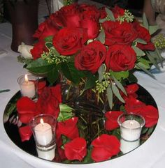 Centerpiece idea with candles