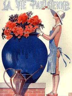 hoodoothatvoodoo:  Illustration by George Leonnec For La Vie Parisenne April 1926
