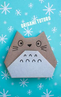 how to make origami totoro- super easy and fun kids craft