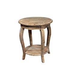 This decorative round end table is unique and attractive in your living space. With a 24-inch height, it can be used wherever an accent table is needed.