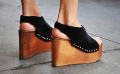 Celine wedge platforms.