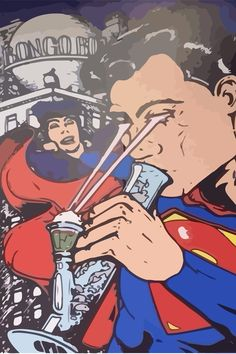 Post with 0 votes and 439 views. we all know where superman gets his real powers from Arte Dope, Dope Art, Trippy Wallpaper, Cartoon Wallpaper, Marijuana Art, Cannabis Oil, Medical Marijuana, Stoner Art, Weed Art