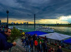 Bridge on the rhein river, Dusseldorf by saurav karna on 500px