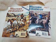 lot of 2 vintage WESTERN HORSEMAN magazines, 1996