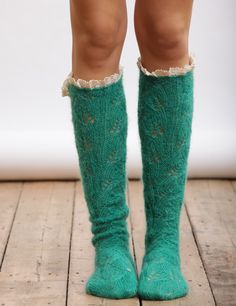 These beautiful Mohair Lacy socks come in a range of wonderful colours- shop now at Lowie!£48.00.