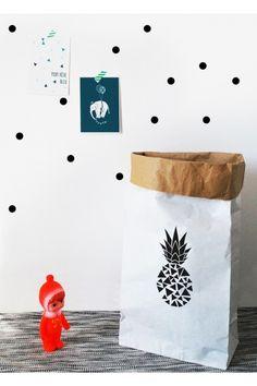 Sac+de+rangement+en+papier+Ananas