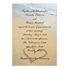 ShoppingHeart on the Shore Beach Wedding Invitation Invitationsin each seller & make purchase online for cheap. Choose the best price and best promotion as you thing Secure Checkout you can trust Buy best