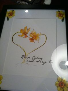 My aunt had this picture made just for me, and I love the idea of the Double Daffodil as a tattoo <3333