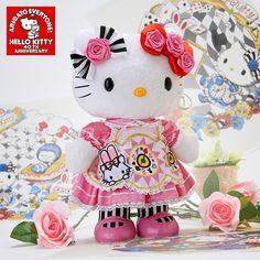 Hello Kitty 40th Anniversary Alice Kitty Plush Doll Pink SANRIO JAPAN