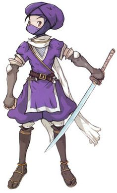 View an image titled 'Human Ninja Art' in our Final Fantasy Tactics Advance art gallery featuring official character designs, concept art, and promo pictures. Character Concept, Character Art, Concept Art, Character Design, Character Ideas, Final Fantasy Characters, Dnd Characters, Final Fantasy Tactics Advance, 10 Picture
