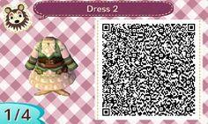 ACNL QR Code: Steampunk Green Dress