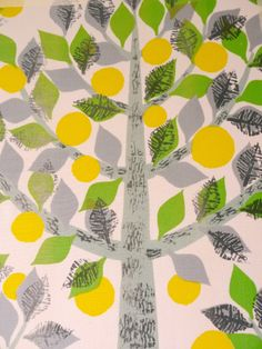 gorgeous 50s Lemon Tree fabric from Jane Foster Blog