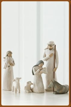 Nativity Set Scenes from Willow Tree. Shop our four distinctive hand-sculpted Nativity Sets on the official site for Willow Tree by Susan Lordi. Christmas Nativity, Noel Christmas, A Christmas Story, Christmas Ideas, Nativity Ornaments, Xmas, Willow Tree Nativity Set, Willow Tree Figurines, Nativity Sets