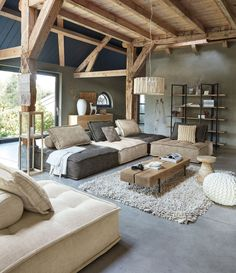 gorgeous living room designs ideas to try 1 ~ Modern House Design Home Living Room, Interior Design Living Room, Living Room Designs, Living Room Decor, Chalet Interior, Bedroom Decor, Country Interior, Ikea Bedroom, Cozy Bedroom