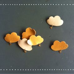 broche nuage cuir #violaineosiocreation