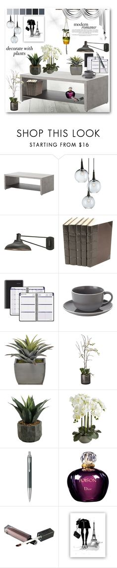 """""""Modern Romance"""" by danceofthesoul ❤ liked on Polyvore featuring interior, interiors, interior design, home, home decor, interior decorating, Currey & Company, AT-A-GLANCE, Royal Doulton and Sia"""