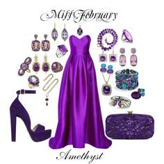 Miss February by burntokra on Polyvore featuring art and amethyst