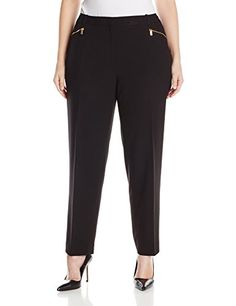 987c24caf86 Calvin Klein Women s Plus-Size Slim Suiting Pant with Zipper