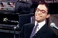 Prince on the Today Show disguised as Bryant Gumbel (1997) saying that it was Mayte's idea to dress up as Gumbel.
