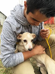 Dog Refuses To Let Go Of The Man Who Saved Him