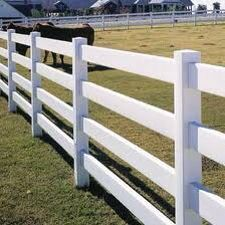 Ranch railing vinyl fencing has beautiful country charm as well as great durability. Perfect for horse property of ranch styling! Check out some options at www.outdoorlivingdc.com