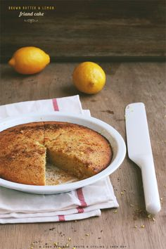 A simple cake with a friand base, this almost tart like afternoon treat is golden and moreish due to the brown butter, lemon and nutmeg. Egg White Recipes, Almond Recipes, Healthy Desserts, Just Desserts, Cake Recipes, Dessert Recipes, Australian Food, Gourmet Cooking, Rhubarb Recipes