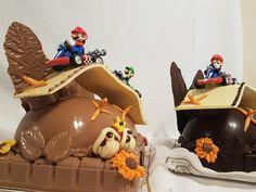 Super Mario. Figuras de Chocolate. Bollos de Pascua Gijón Mario, Cake, Desserts, Food, Godchild, Buns, Easter, Tailgate Desserts, Deserts
