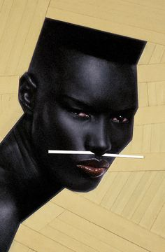 Cry Now, Laugh Later [Detail] by Jean-Paul Goude, 1982   GRACE a TRUE ICON and DIVA!