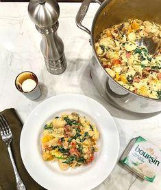 Boursin Cheese Pasta Recipe, Boursin Recipes, Cheese Pasta Bake, Baked Cheese, Pasta Recipes, Dinner Recipes, Cooking Recipes, Appetizer Recipes, Dinner Ideas