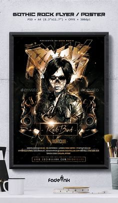 Buy Gothic Rock Flyer / Poster Template by Fadeink on GraphicRiver. Gothic Rock Flyer / Poster Template This is a photoshop flyer / poster template designed to promote a gothic, rock, h. Gothic Metal, Gothic Rock, Flyer And Poster Design, Flyer Design, Concert Flyer, Event Flyer Templates, Flyer Layout, Party Flyer, Festival Party