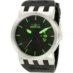 Invicta DNA Urban Mens Watch 10403 Invicta. $89.99. Swiss Parts ISA 331/103 Quartz movement. Silver-tone stainless steel case. Green accents on black dial. Water Resistant 100 Meters. Polyurethane strap decorated with the DNA logo