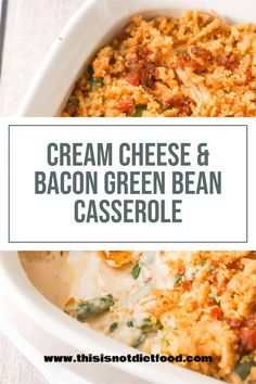 Thanksgiving Side Dishes, Thanksgiving Recipes, Side Dishes Easy, Side Dish Recipes, Bean Recipes, Vegetable Recipes, Green Bean Casserole Bacon, Fried Onions, Onion Soup