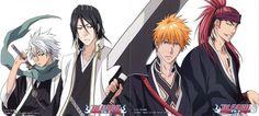 Toshiro, Byakuya, Ichigo and Renji - last arch/new look