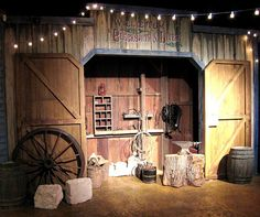 Western Town - we want it to look classy like this, but saloon doors, not barn doors.