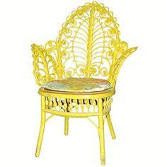 #Yellow #Wicker #Chair by wicker liked from a... | Wicker Blog    wickerparadise.com