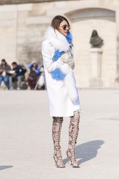 Paris Street Chic - lol - she looks like she slept in them because her lady sitter wasn't there to take them off for her.