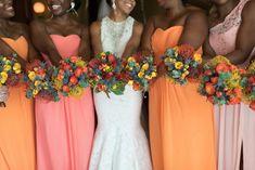 Coral Bridesmaid Dresses || Coral Bouquests || Chicago Wedding || Bridesmaid || Bridesmaid Dresses