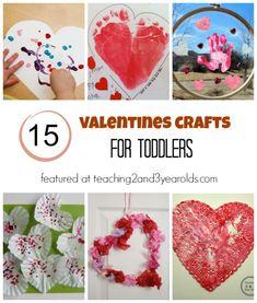 Toddler Valentine Crafts - A Collection Featured at Teaching 2 and 3 Year Olds