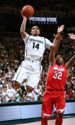 Michigan State's difficult stretch continues as the Spartans travel to Indiana. The Spartans and Hoosiers are two of the three teams in a virtual tie for first place in the Big Ten standings with one conference loss. They are the top two teams in the Big Ten in field-goal percentage defense, but also rank in the top three in field-goal percentage. MSU has won three of four conference games on the road this season. 1.27.13