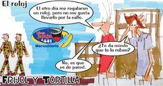 Frases, chistes, anécdotas, reflexiones y mucho más.: Chiste Frijol y Tortilla, El reloj, Nuestro Diario Guatemala