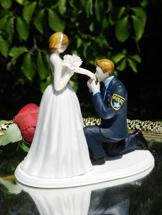 Police Officer Cop law enforcement  prince wedding by spartacarla, $125.00