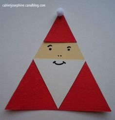 DIY 3 triangle Santa-gift tag
