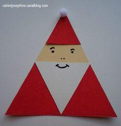 DIY 3 triangle Santa-gift tag